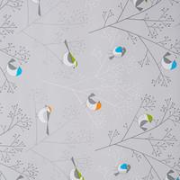 Beschichtete Tischdecke Vogel Grau