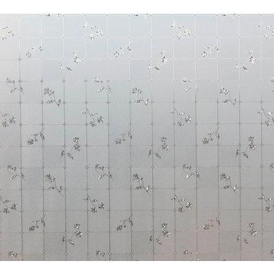 LineaFix Fensterfolie Statisch Rosen - 92CM breit