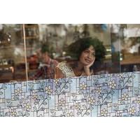 LineaFix Fensterfolie Statisch Flowers - 92CM breit