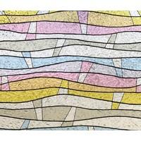 LineaFix Fensterfolie Statisch Color Wave - 92CM breit