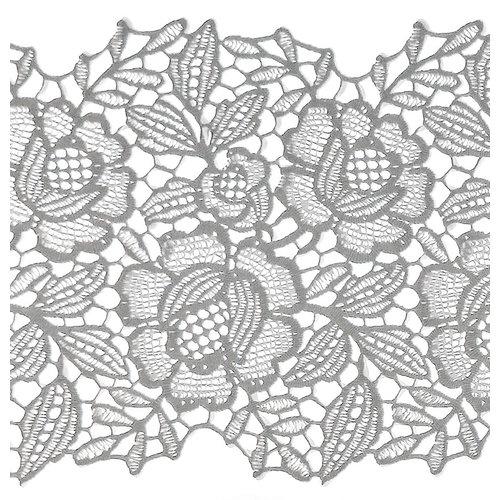 LineaFix Fensterfolie Statisch Blumen/Spitze - 15CM breit