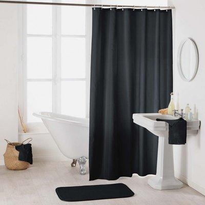 Duschvorhang Schwarz 180 x 200 cm