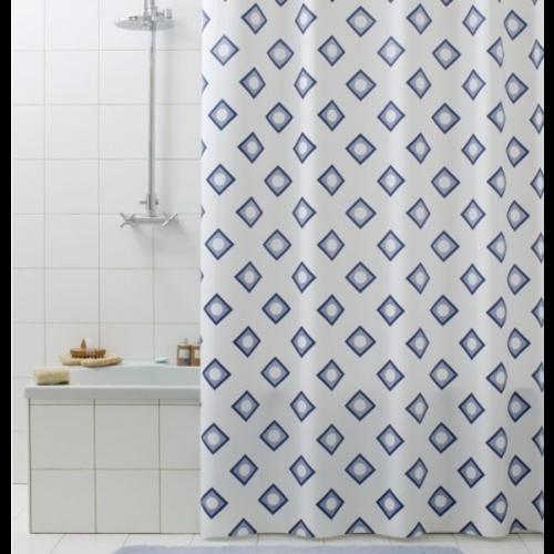 Superdekoshop.de Duschvorhang Rombo Blau 180 x 200 cm