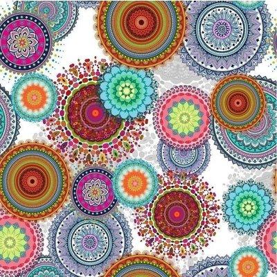 Beschichtete Tischedecke Arana Blumen