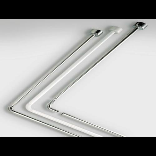 Duschstange Tubo 80x170 cm Weiß