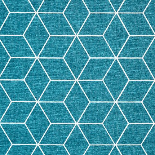 Tischdecke Cotton Coated IsometricBlau