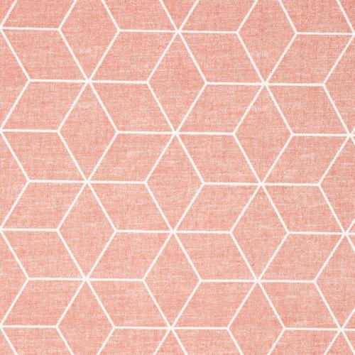Tischdecke Cotton Coated Isometric Rosa