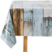 Wachstuch Woody Blau 140 x 250 CM