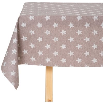 Tischdecke abwaschbar Stern Braun