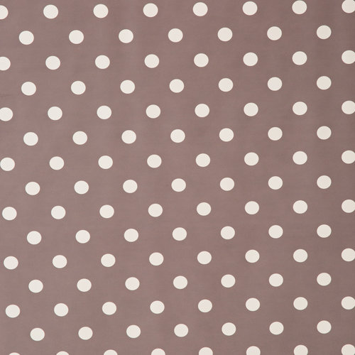 Wachstuch Punkte Grau Weiß