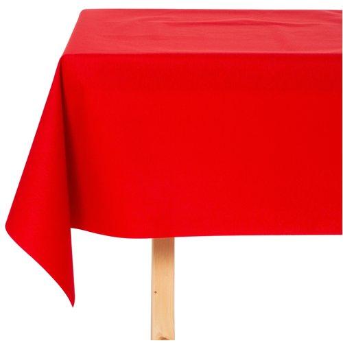 Tischdecke Abwaschbar Maly Rojo Rot Uni 160CM
