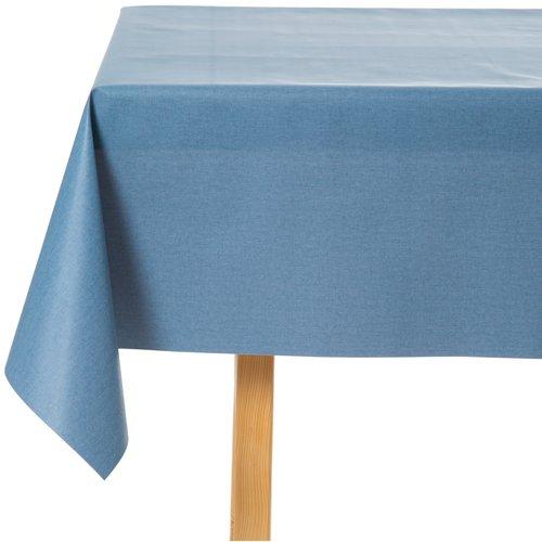 Tischdecke abwaschbar Blau Uni