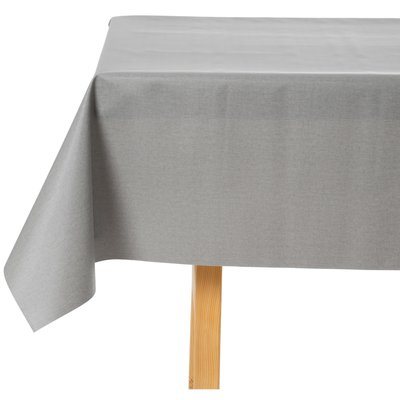 Tischdecke abwaschbar Anthrazit Uni