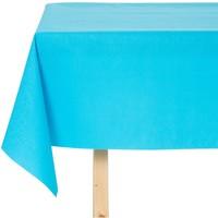Tischdecke abwaschbar Maly Türkis Blau Uni 140CM