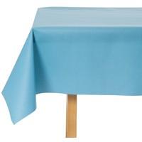 Tischdecke Abwaschbar Celeste Blau Uni 160CM