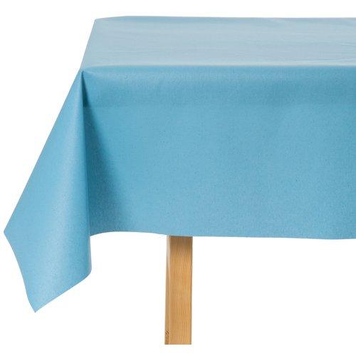 Tischdecke Abwaschbar Celeste Blau Uni 180CM