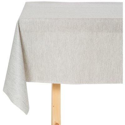 Tischdecke abwaschbar Linado Weiß / Grau