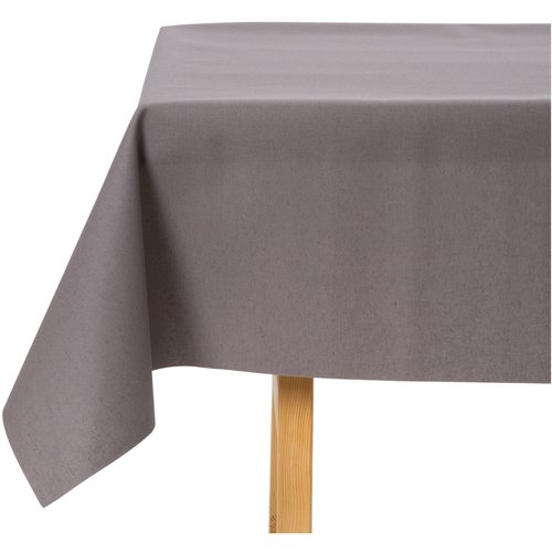 Tischdecke Abwaschbar Maly Dunkel Grau Uni 140CM