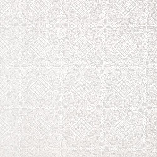 Wachstuch Spitze Mosaik Weiß