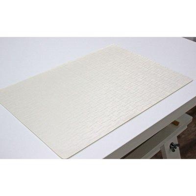 Tischset Jaspe Weiß