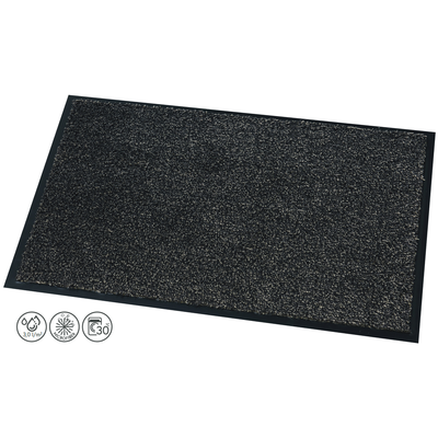 Fußmatte Moorea Schwarz 10 mm Dick