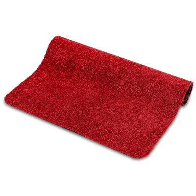Türmatte Washclean Rot Nach Maß - 9mm Dick 120cm Breit