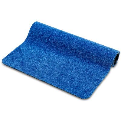 Türmatte Washclean Blau Nach Maß - 9mm Dick 120cm Breit