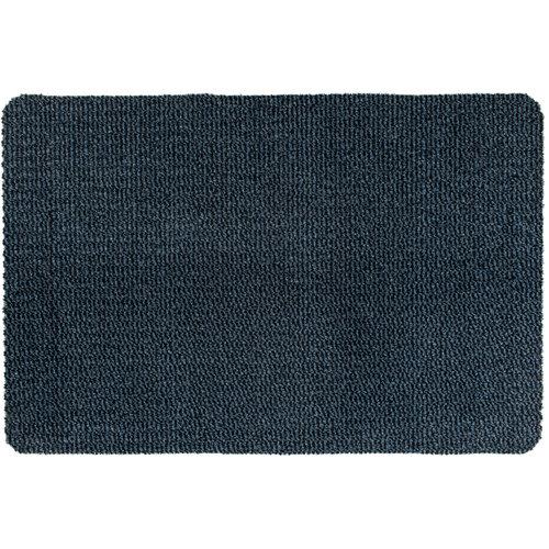 Fußmatte Faro Schwarz - Blau Maßgeschneidert - 8 mm Dick 1.20 Breit