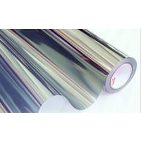 Sonnenschutzfolie Statisch Silber Transperant - 90CM Breit