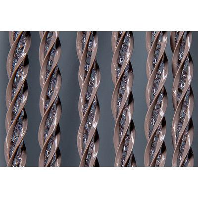 Fliegenvorhang Kunststoff - Transparent Braun