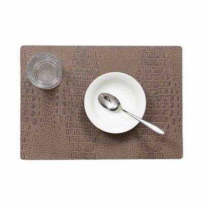 Tischset Croco Braun