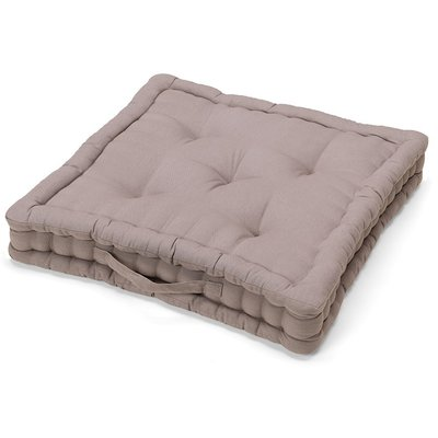 Matratzenkissen Baumwolle Taupe