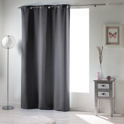 Fertiger Vorhang Ophangringen Grau 140 x 240 CM