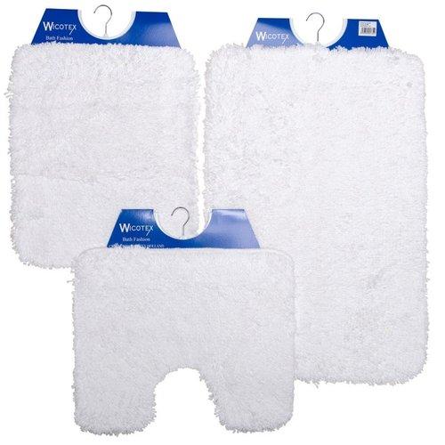 Badematte - Toilettenmatte- Bidetmatte Weiß