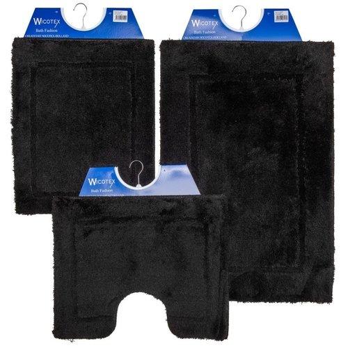 Badematte - Toilettenmatte- Bidetmatte Schwarz