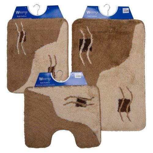 Badematte - Toilettenmatte- Bidetmatte Beige Duo Golf
