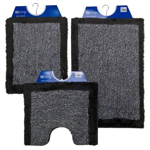 Badematte - Toilettenmatte- Bidetmatte Grau Met Schwarze Kante
