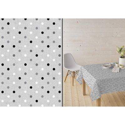 Beschichtetes Tischdecke Confetti Grautinten