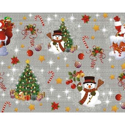 Wachstuch Weihnachten Dunkel Grau