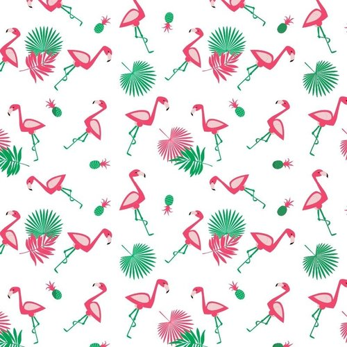 Wachstuch Flamingo Rosa