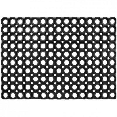 Gummi Fußmat Runden Schwarz