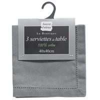 Servietten Charline 40x40 CM Grau