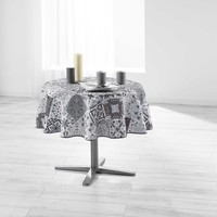 Tischdecke Essentiel Persane Grau Rund 180 CM