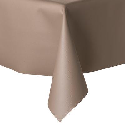 Tischdecke Kunstleder Taupe 140 CM