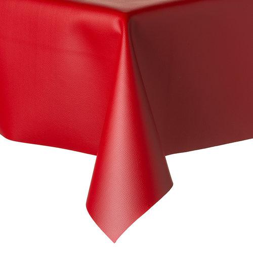 Tischdecke Kunstleder Rot 140 CM