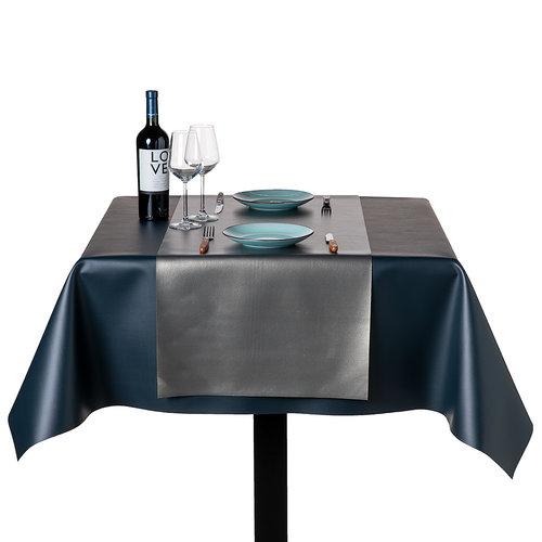 Tischdecke Kunstleder Weiß 140 CM
