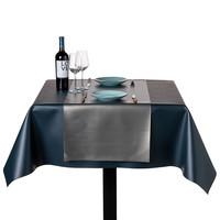 Tischdecke Kunstleder Metallic Kupfer 140 CM