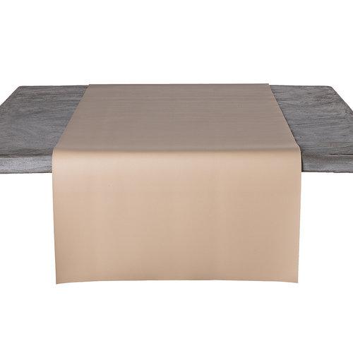 Tischläufer Kunstleder Beige 45 x 140 CM