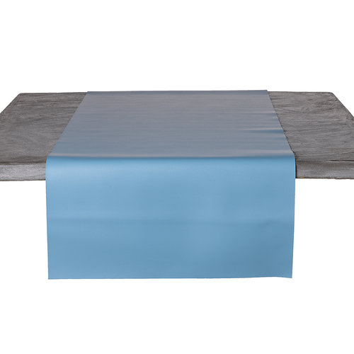 Tischläufer Kunstleder Hellblau 45 x 140 CM