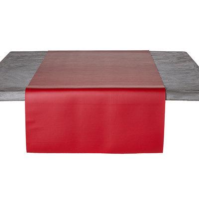 Tischläufer Kunstleder Rot 45 x 140 CM